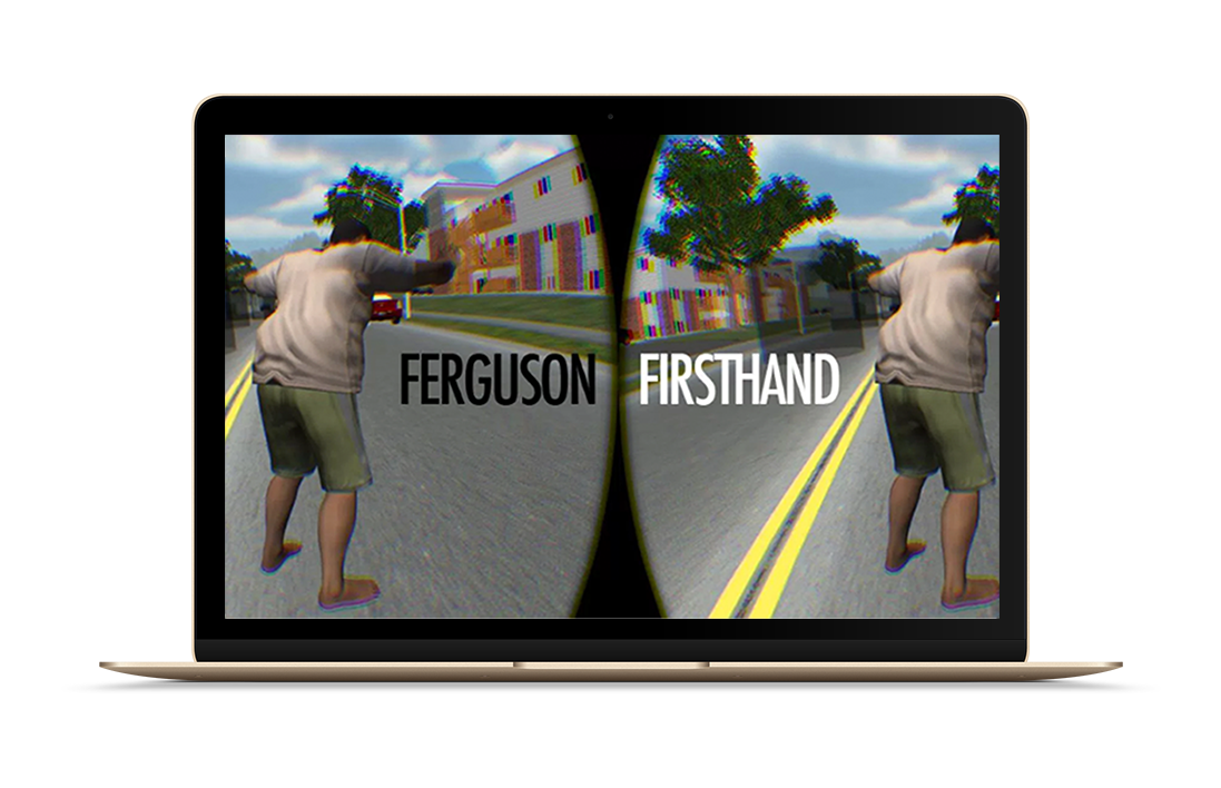 Screengrab of Ferguson Firsthand, a 3D journalism project I contributed to.